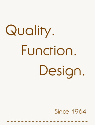 quality, function, design, since 1964